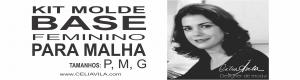 Kit Molde Base Feminino para Malha P, M, G