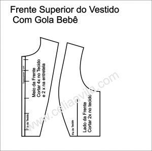 INTERPRETAÇÃO FRENTE PRONTA VESTIDO FUSTÃO