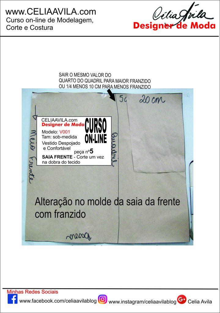 MOLDE DA FRENTE DA SAIA