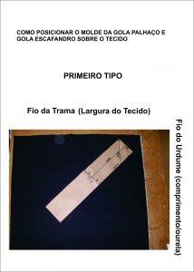 GOLA PALHAÇO E ESCAFANDRO - PRIMEIRO TIPO