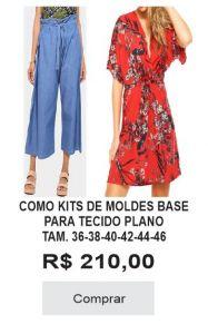 COMBO KITS DE MOLDES BASE PARA TECIDO PLANO TAM 36 38 40 42 44 46