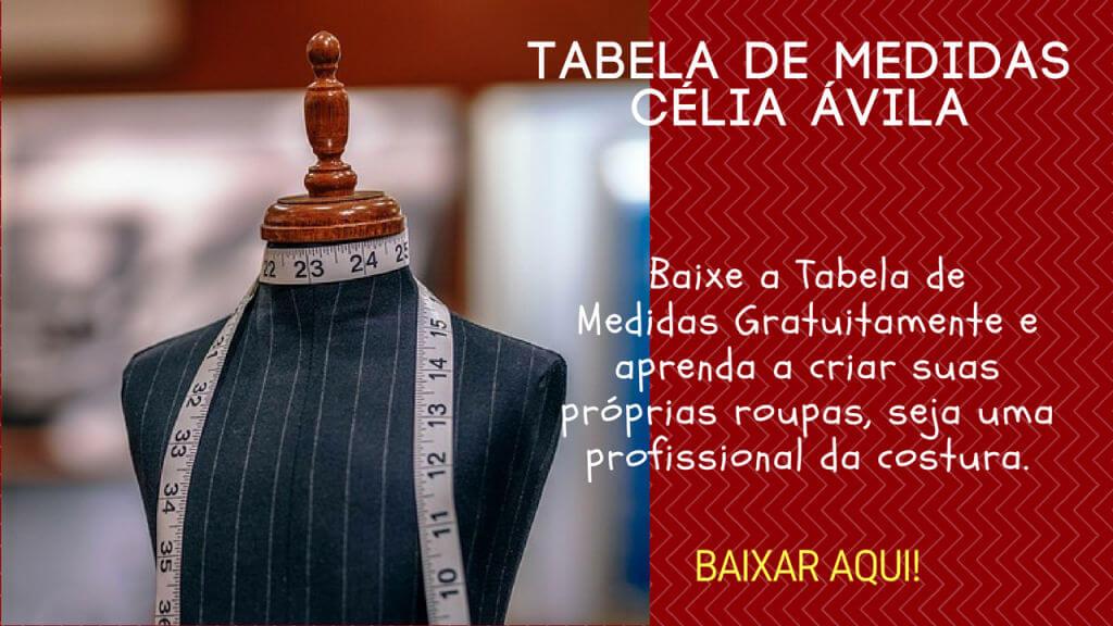 Costura e Modelagem - Apostilas - Tabela de Medidas Célia Ávila