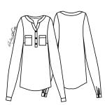 Kit de Molde de Camisão Feminino com Gola Anatômica e Carcela - Tecido Plano