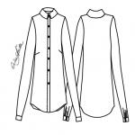 Kit de Molde de Camisa Feminina Modelada - Tecido Plano