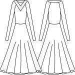 Vestido com Manga Raglan e Decote V com Pala - Tecido Plano